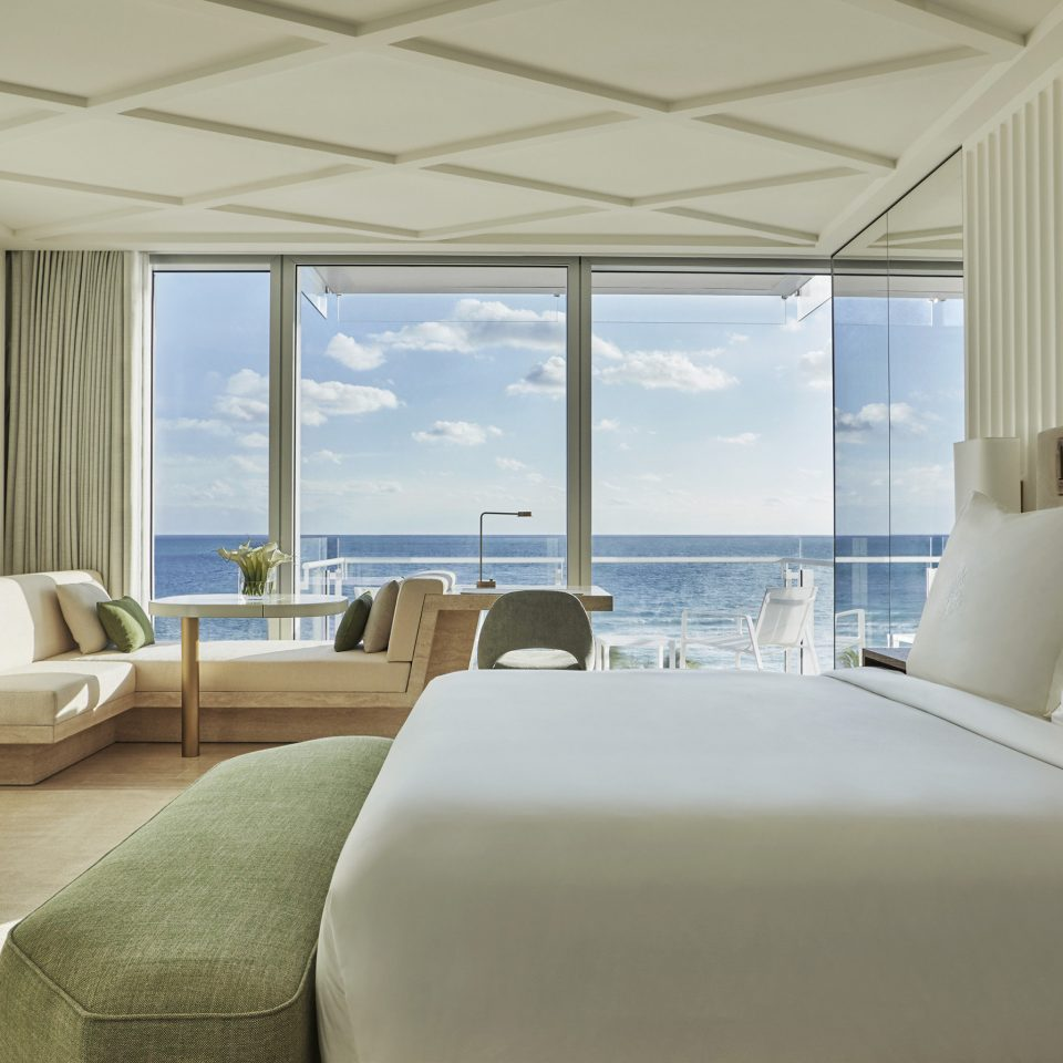 City Hotels Luxury Miami Miami Beach sofa property Architecture living room Suite home penthouse apartment window treatment daylighting interior designer Bedroom