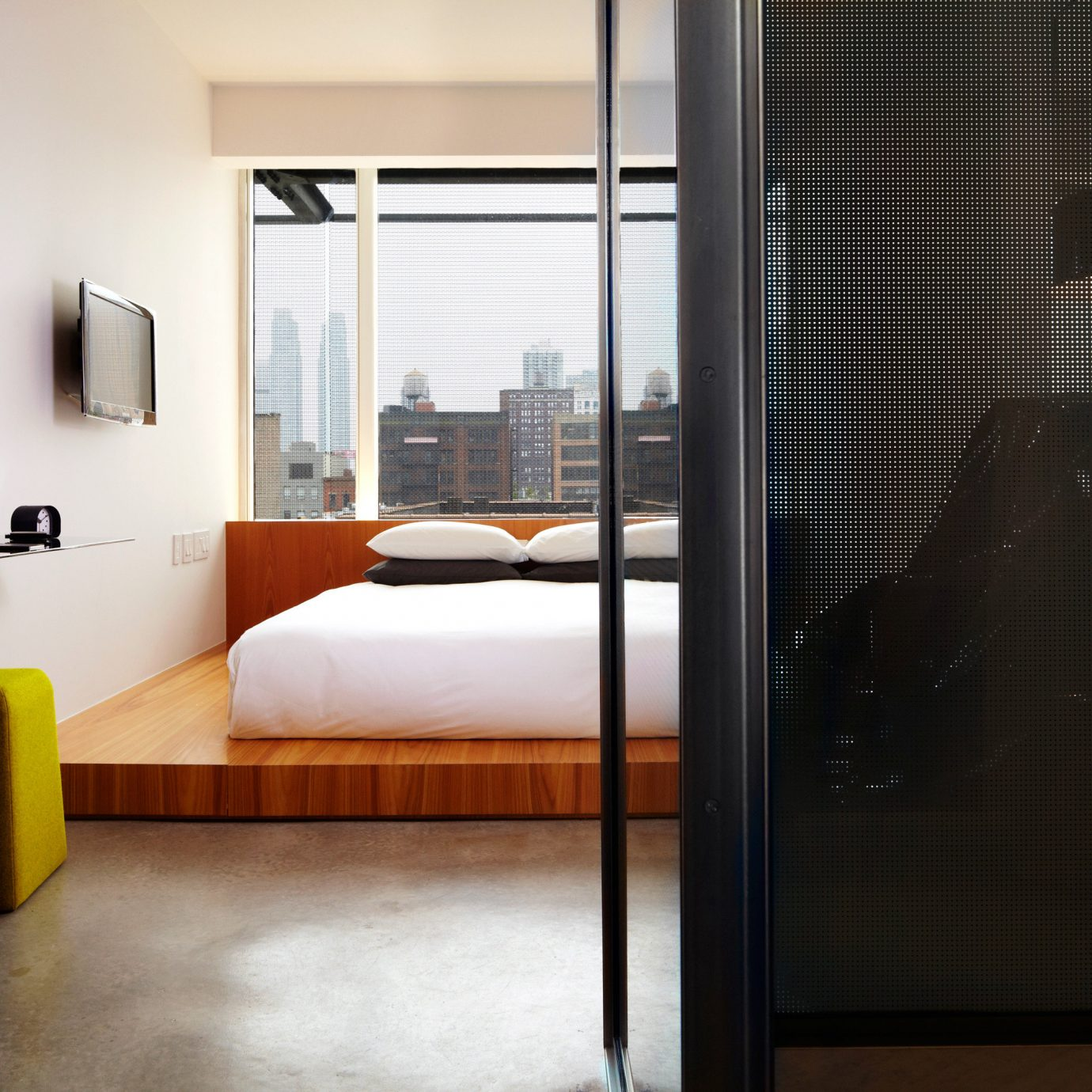 Bedroom City Modern Scenic views Suite property house Architecture home condominium living room flooring door loft
