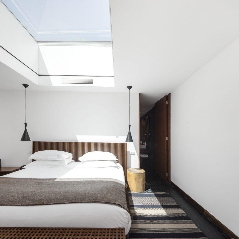 Architecture bed frame daylighting Bedroom house Suite loft interior designer comfort