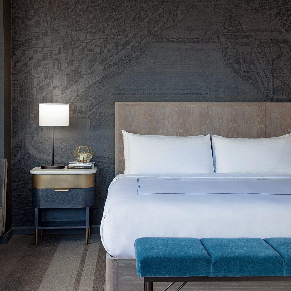 Bedroom bed frame Suite Architecture home mattress bed sheet interior designer