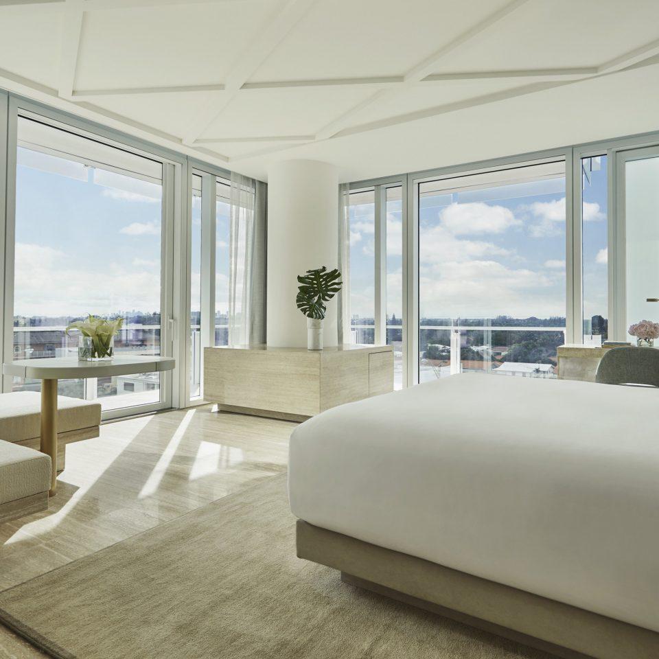 sofa property Architecture condominium penthouse apartment Bedroom daylighting Suite interior designer overlooking