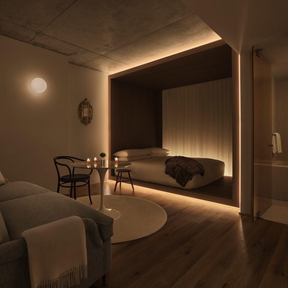 Architecture lighting Suite Bedroom flooring wood flooring light fixture interior designer