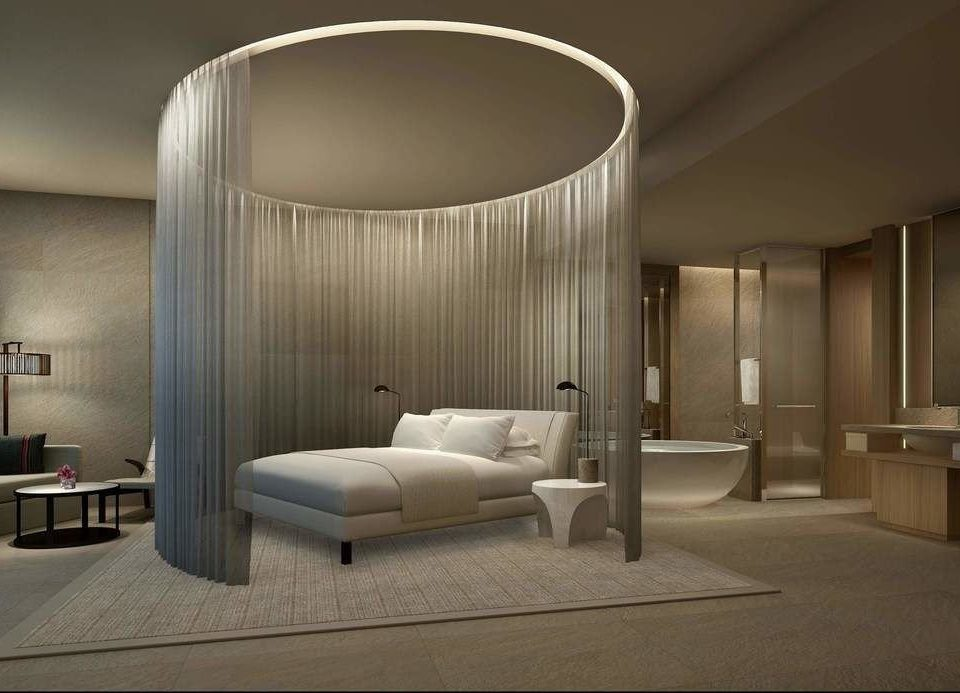 property Architecture Bedroom lighting Suite living room