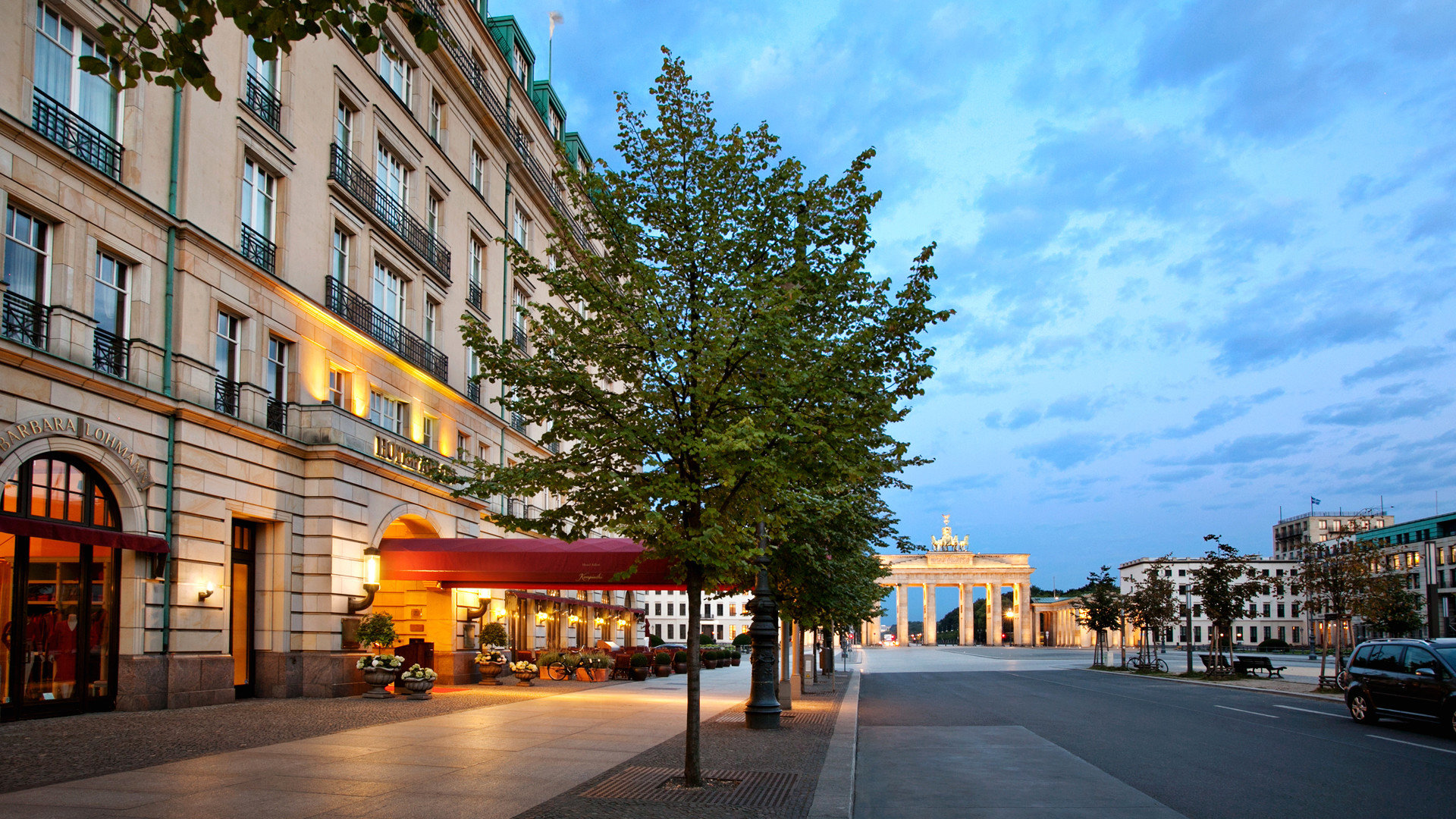 Berlin Boutique Hotels Buildings Exterior Germany Hotels Luxury Travel building sky road scene Town way neighbourhood City street residential area Downtown Architecture cityscape plaza evening infrastructure sidewalk town square