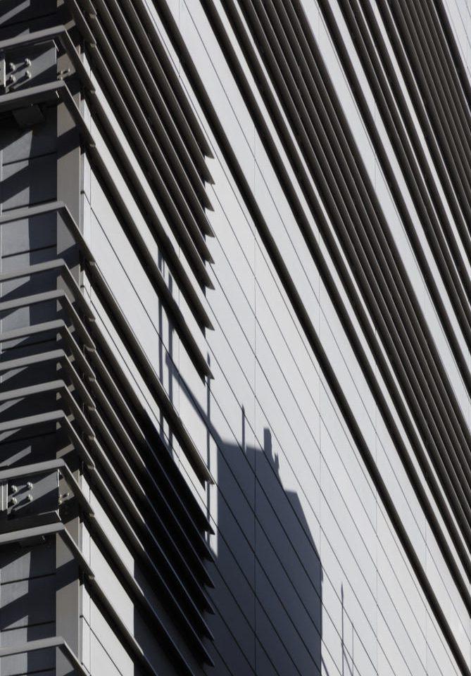 black and white skyscraper Architecture line daylighting monochrome shape symmetry monochrome photography material siding