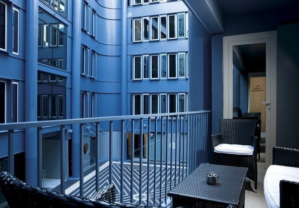 blue chair building property house Architecture condominium home