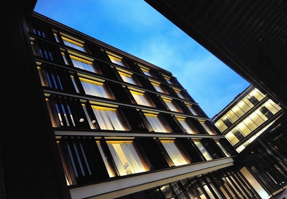 building blue Architecture light skyscraper tower block condominium shape tall headquarters