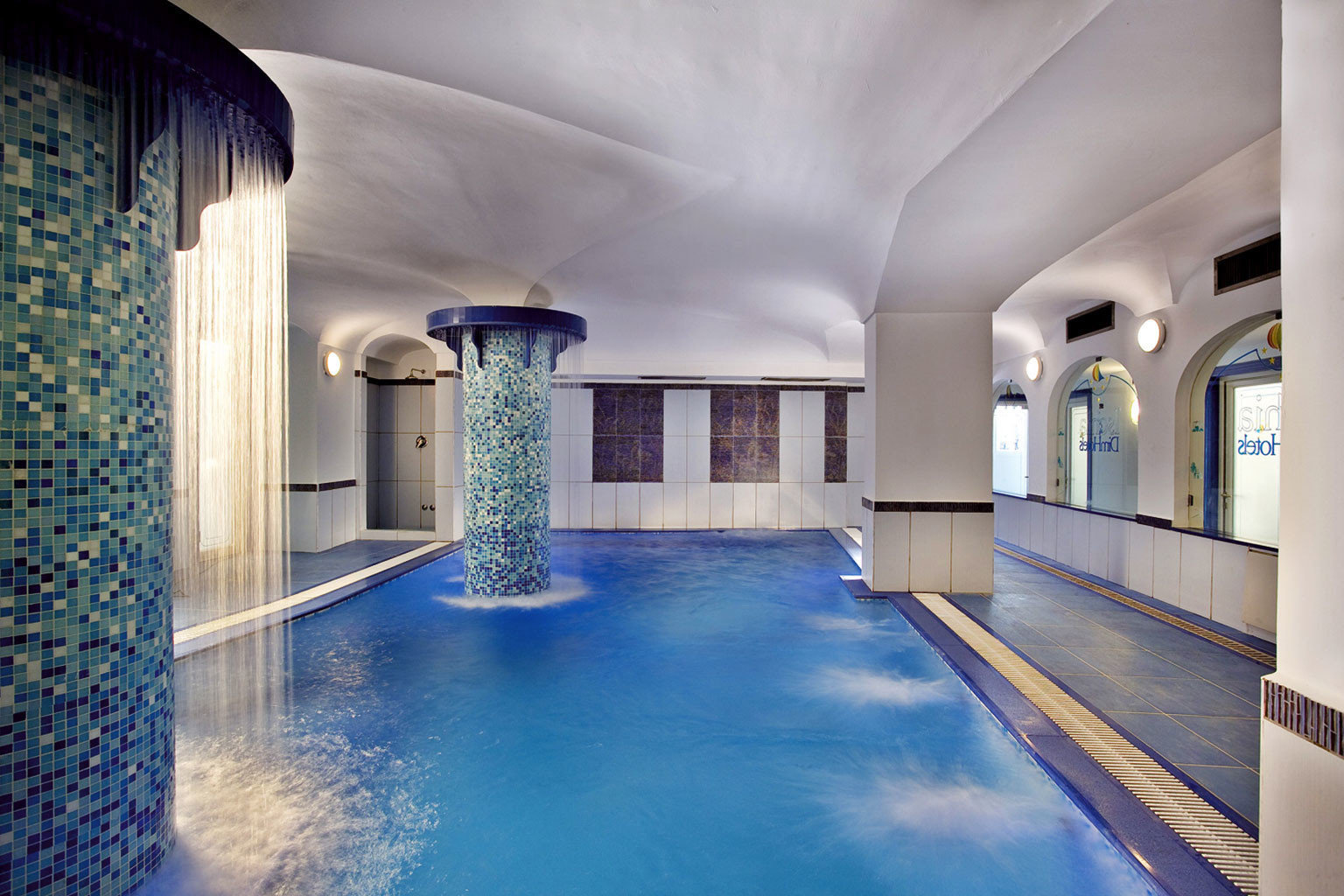 swimming pool building blue Architecture house mansion lighting