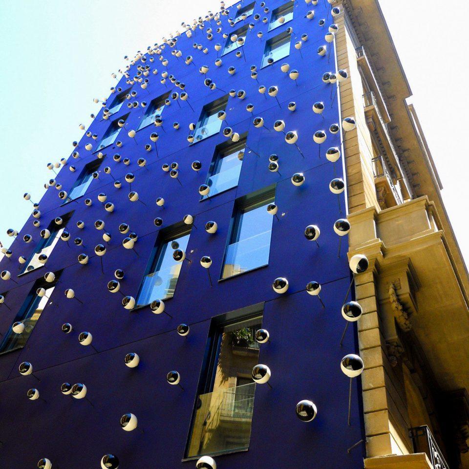 blue Architecture sky building metropolitan area skyscraper metropolis metal