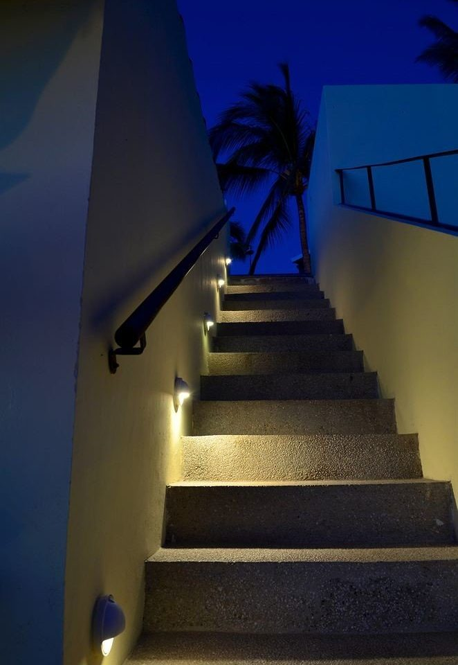 color blue light house Architecture darkness night stairs daylighting lighting sunlight shadow shape symmetry line stair step dark