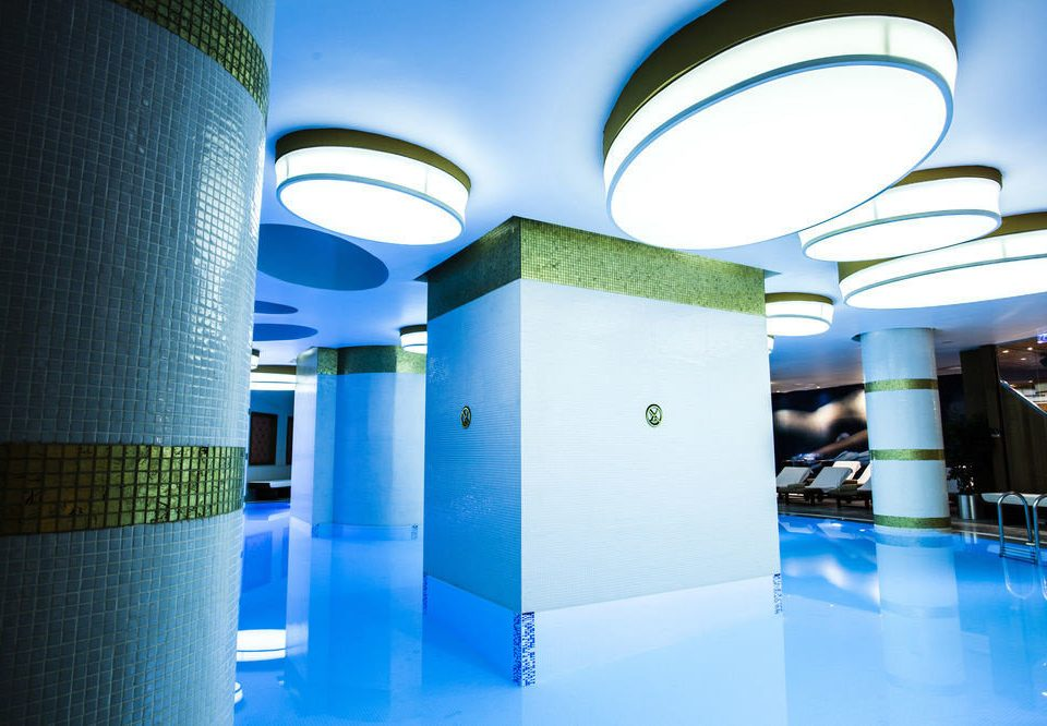 blue leisure swimming pool Architecture leisure centre lighting headquarters convention center light