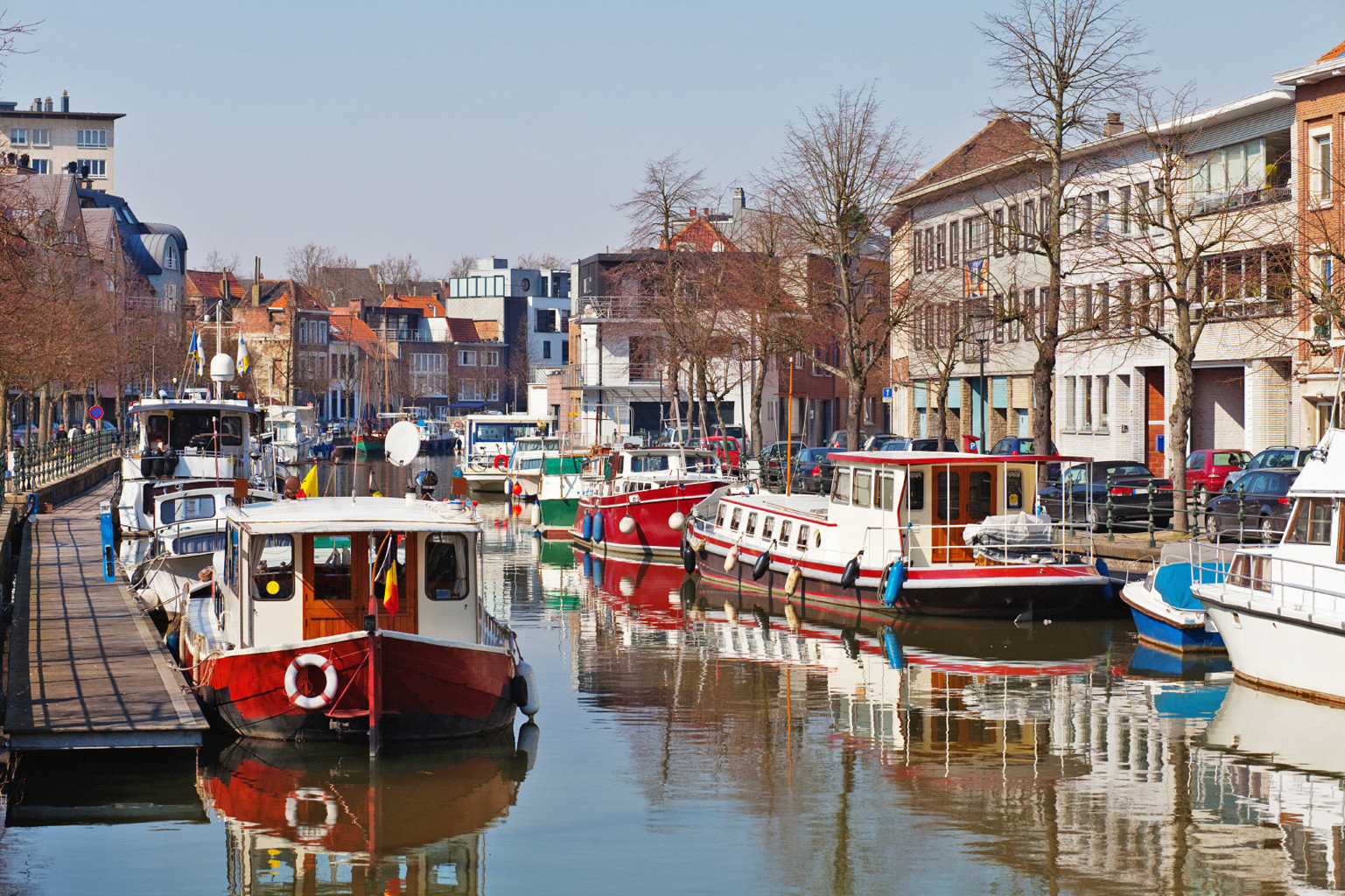 Architecture Boat City Cultural Historic River building sky water scene Canal Harbor waterway vehicle Town channel cityscape docked travel