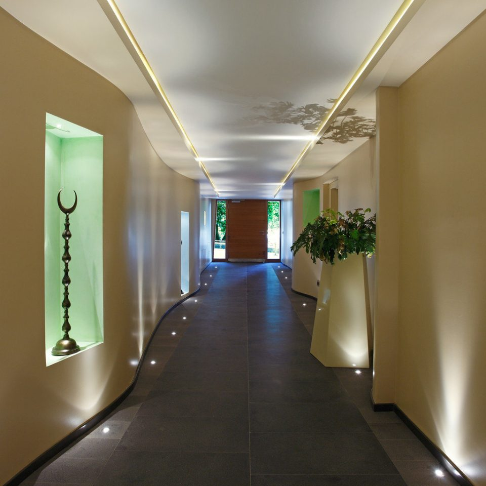 Boutique Budget Lobby Modern building Architecture hall lighting green lamp