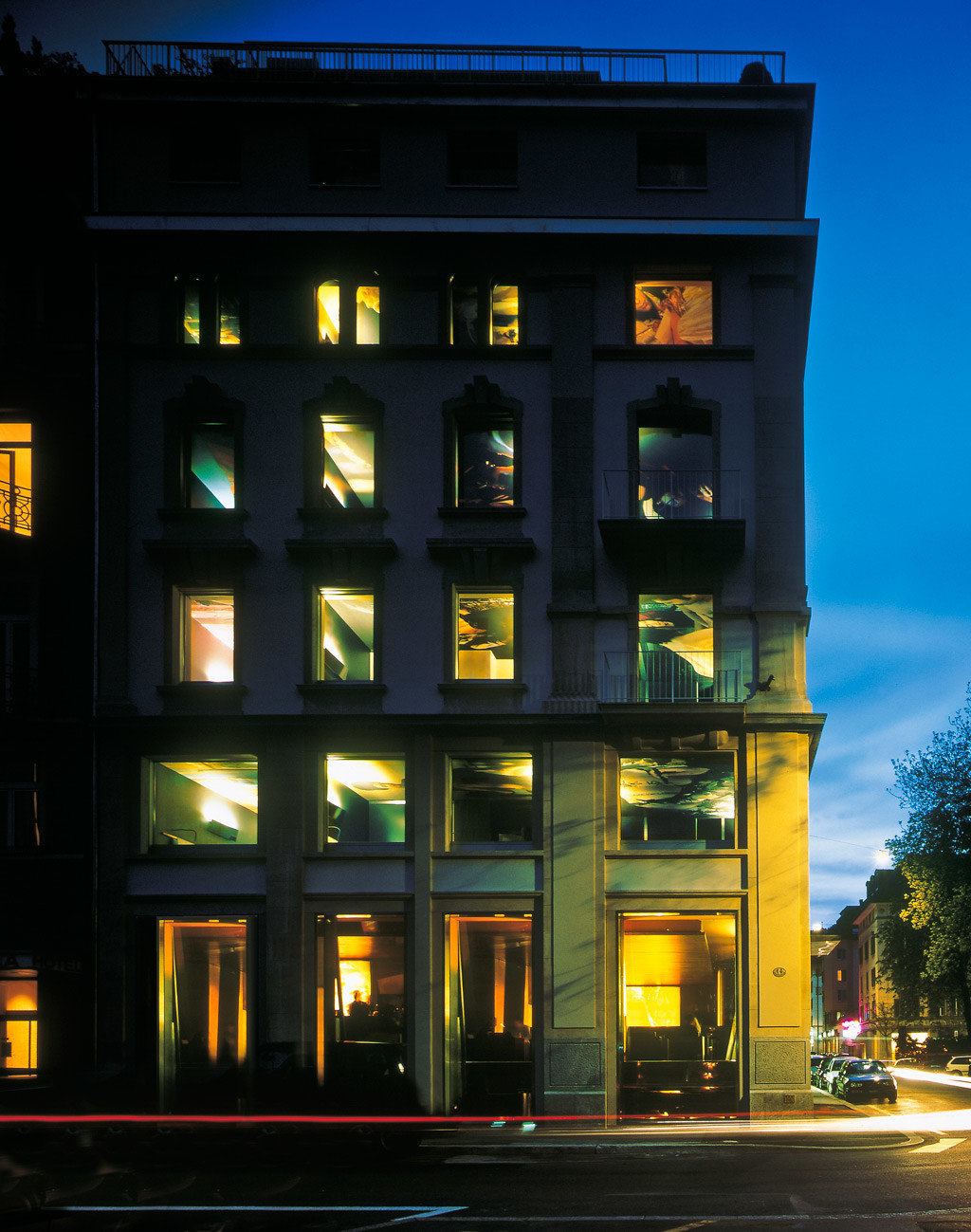 Architecture Boutique Buildings Exterior night light lighting evening City