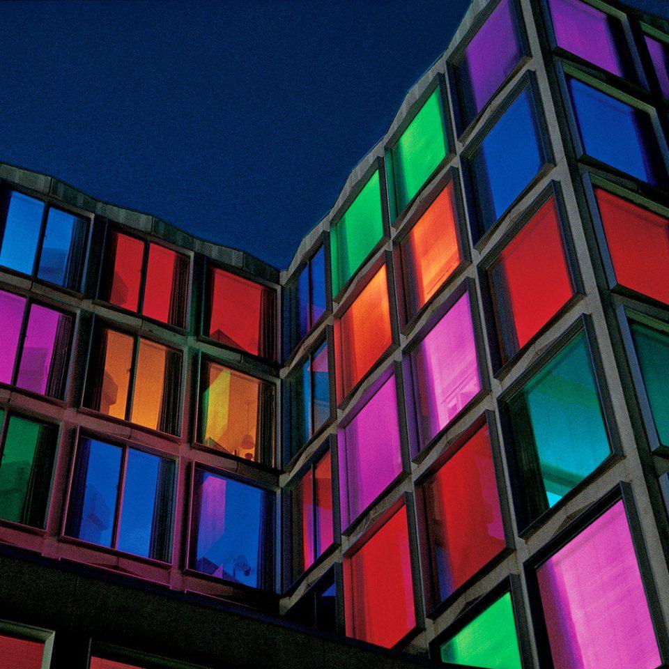 Architecture Boutique Buildings Exterior color glass cosmetic shape symmetry metropolis line colorful bright painted colored