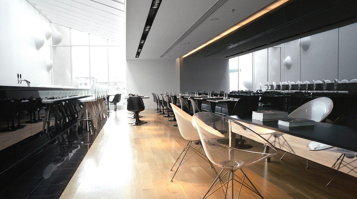 Boutique City Dining Drink Eat Hip Architecture auditorium lighting headquarters tourist attraction art gallery museum office professional hall space