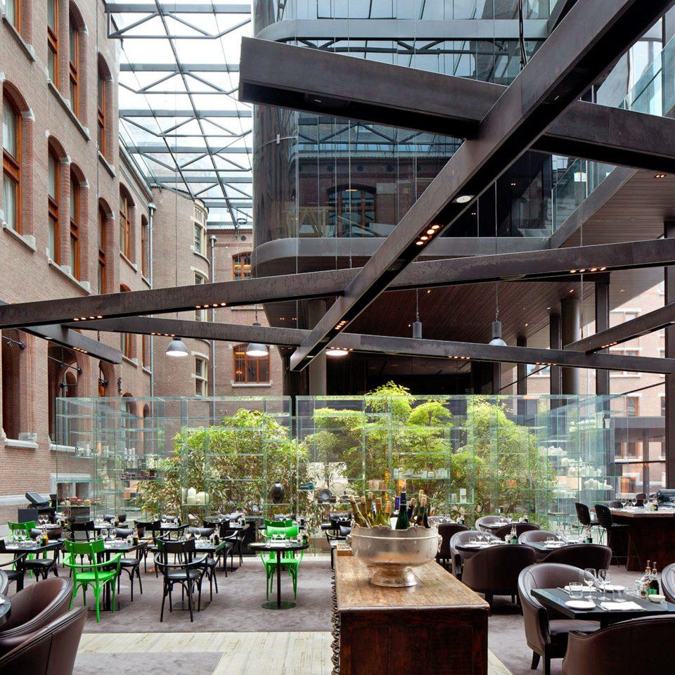 Boutique Dining Drink Eat Hip Lounge Modern building City Architecture restaurant plaza Downtown condominium professional