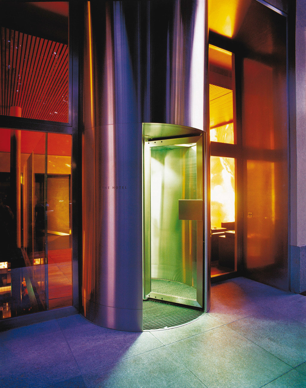 Architecture Boutique Exterior color light Lobby lighting