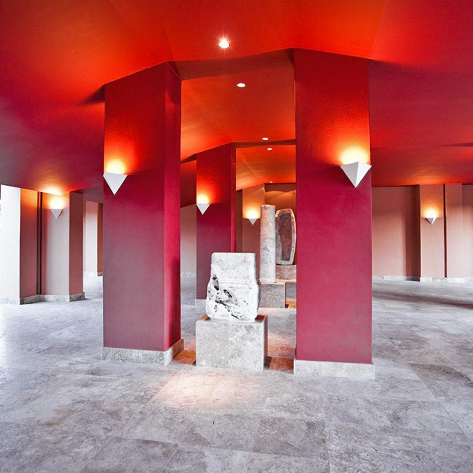 Boutique Hip Lobby Modern color red Architecture hall flooring