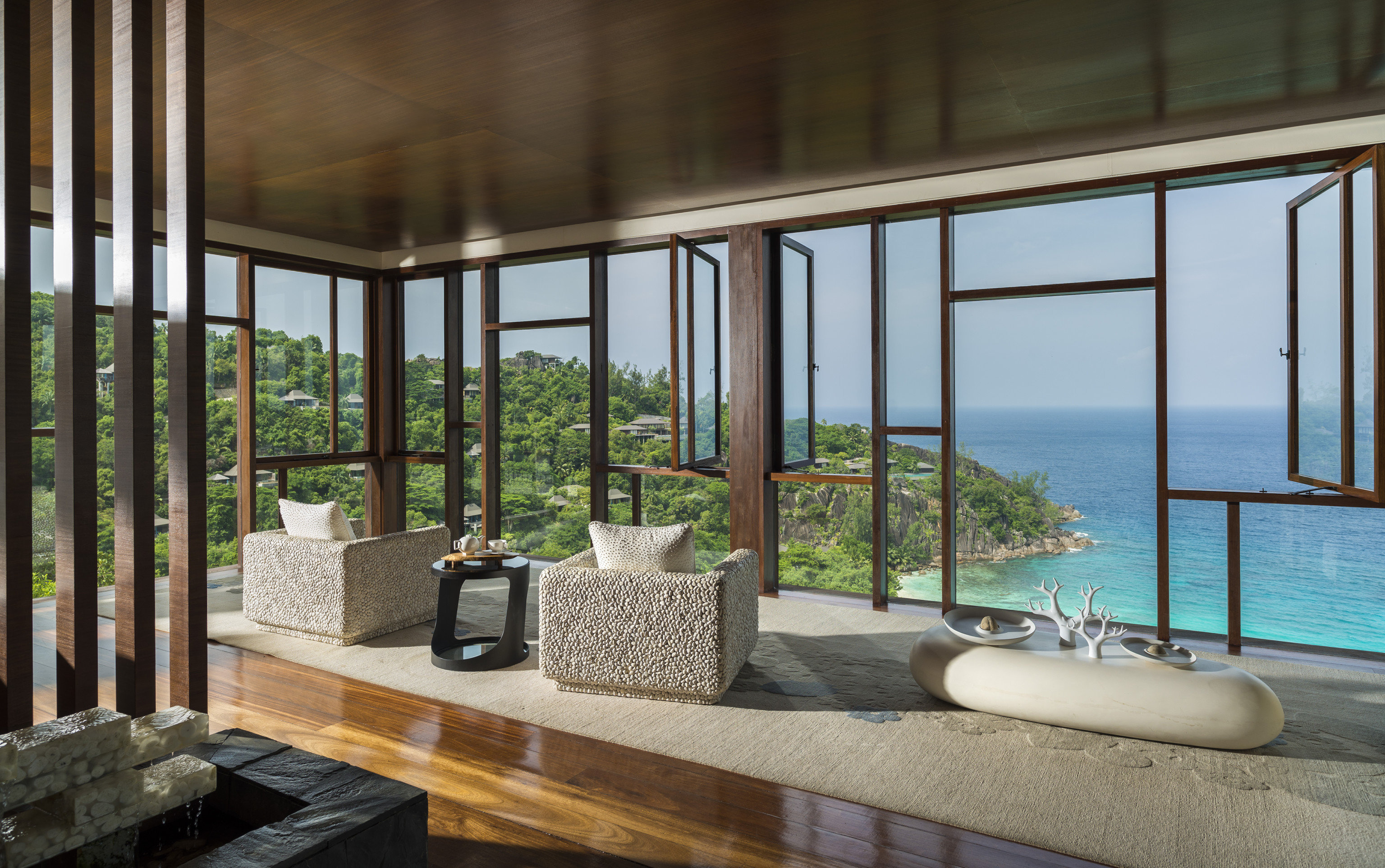 property chair building house Architecture home condominium porch living room overlooking