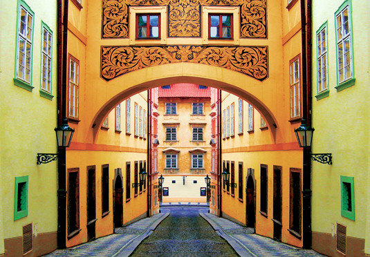color building neighbourhood Architecture yellow palace synagogue colorful