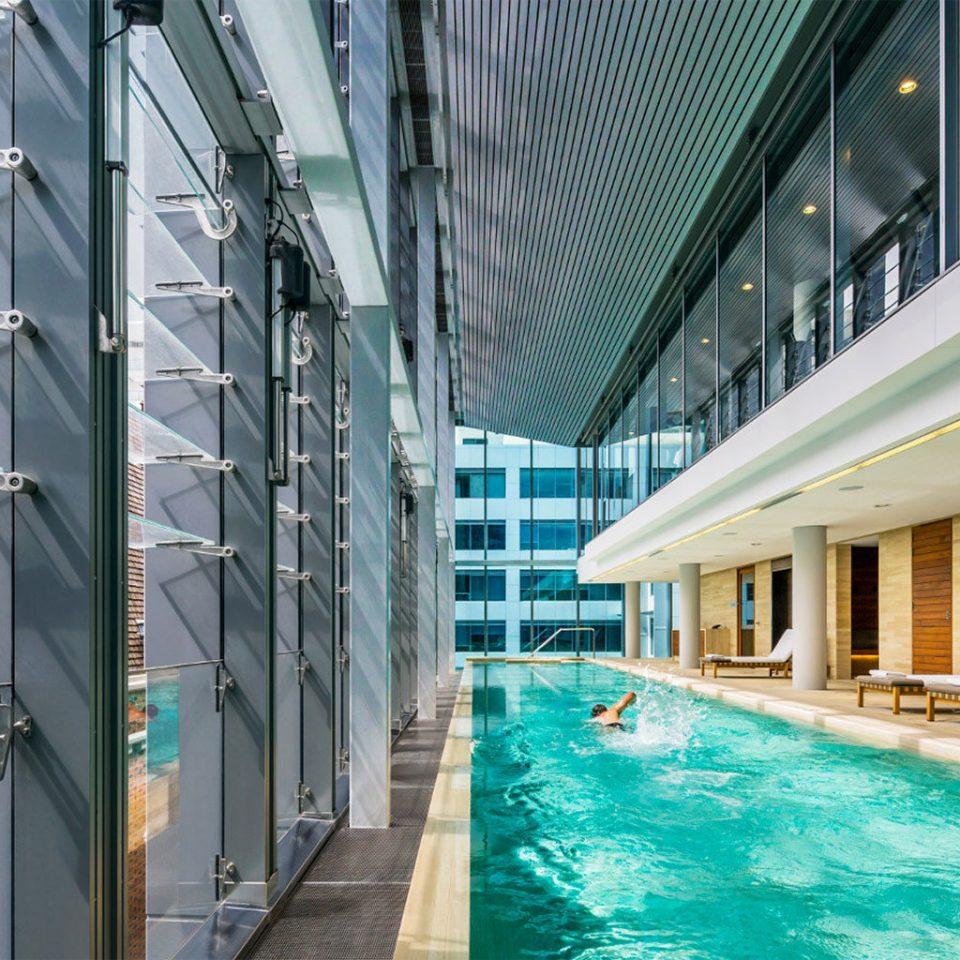 building Architecture swimming pool condominium headquarters