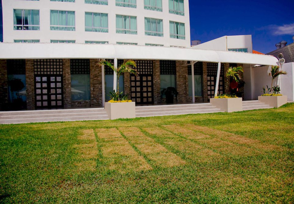 grass building property house home Architecture residential area lawn