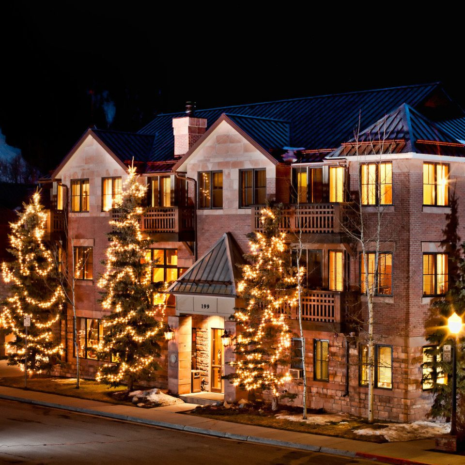 Architecture Buildings Exterior Resort night house Town christmas decoration evening christmas lights Christmas lighting Downtown