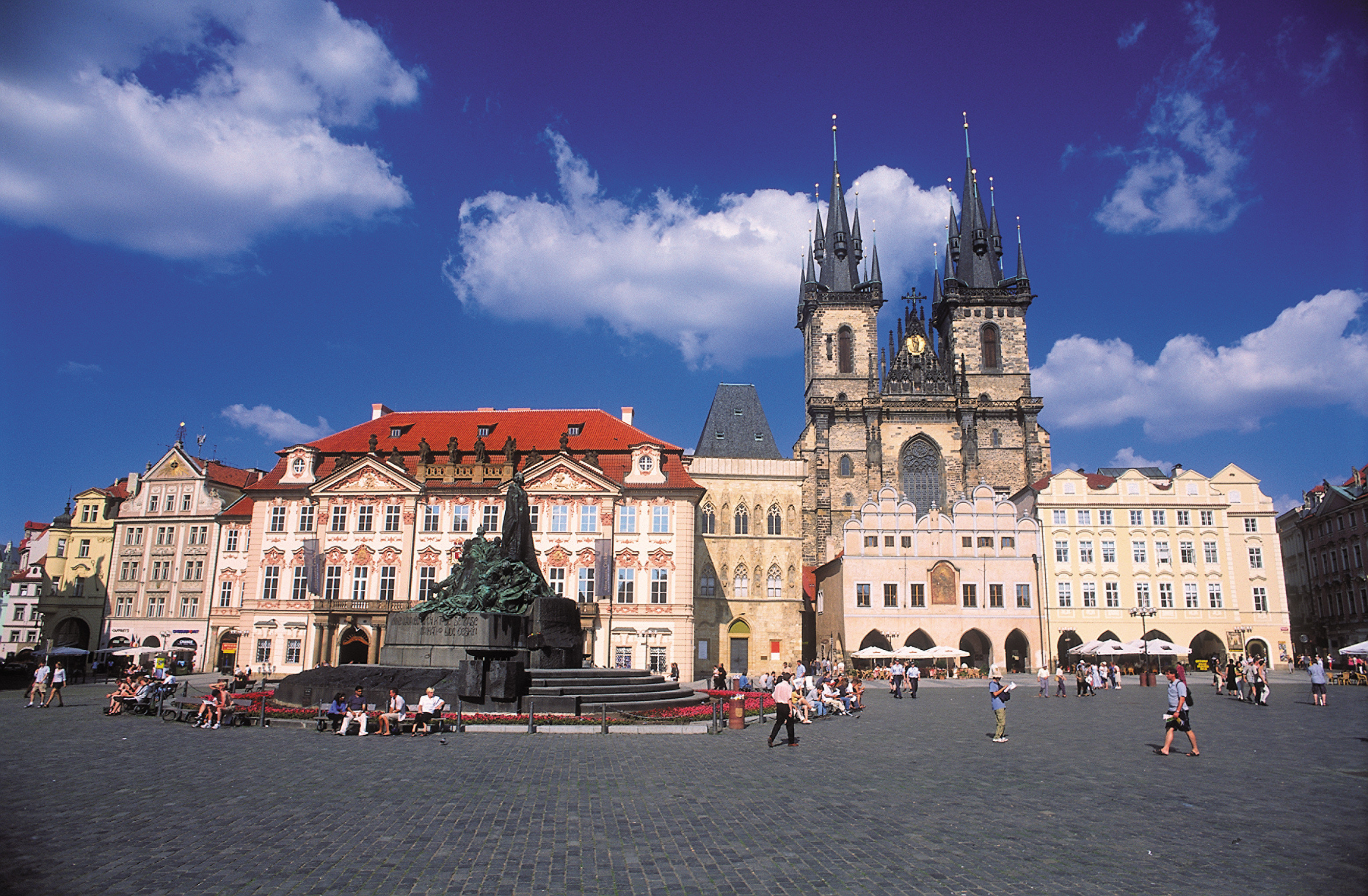 Architecture Buildings Cultural Exterior Landmarks Outdoors sky landmark Town City building cityscape town square château plaza cathedral Church palace place of worship crowd