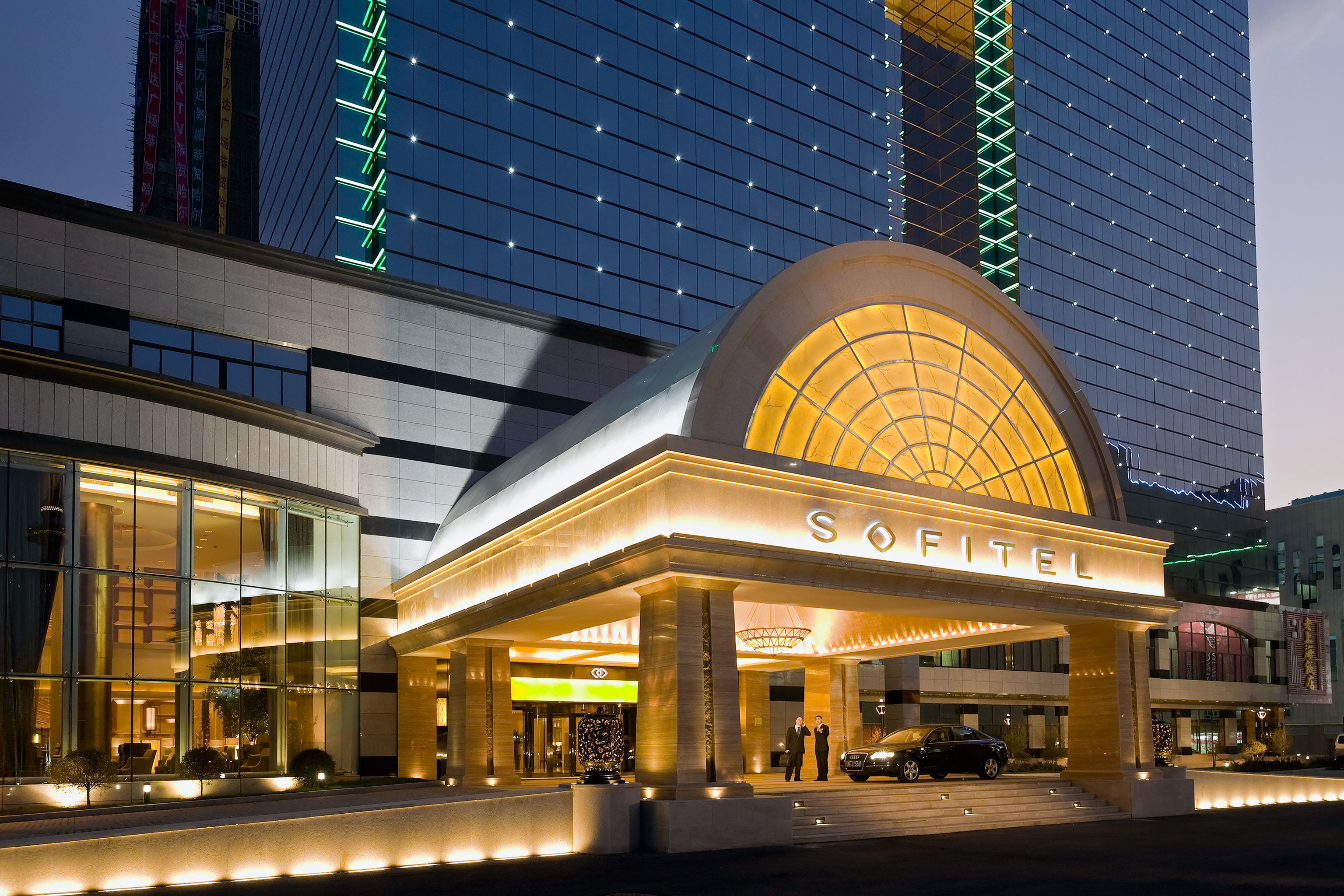 Architecture Buildings Classic Exterior Resort building metropolitan area landmark shopping mall night Downtown plaza convention center retail City