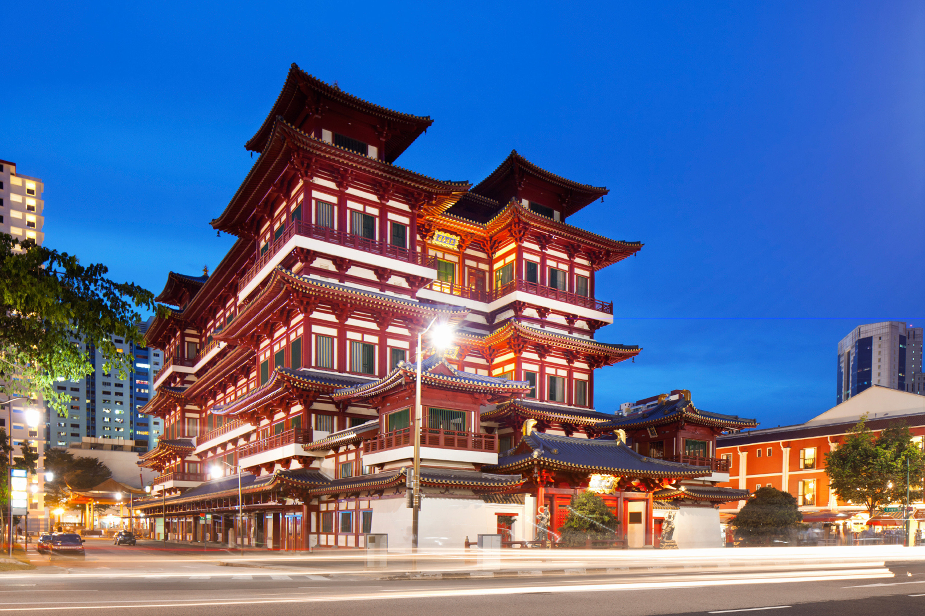 Architecture Buildings City Exterior sky building landmark Town street house Downtown plaza palace temple tower Resort place of worship