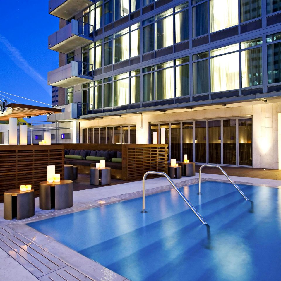 Architecture Buildings City Drink Eat Hip Lounge Luxury Modern Pool Romance Romantic Scenic views building condominium swimming pool property leisure centre plaza Resort headquarters