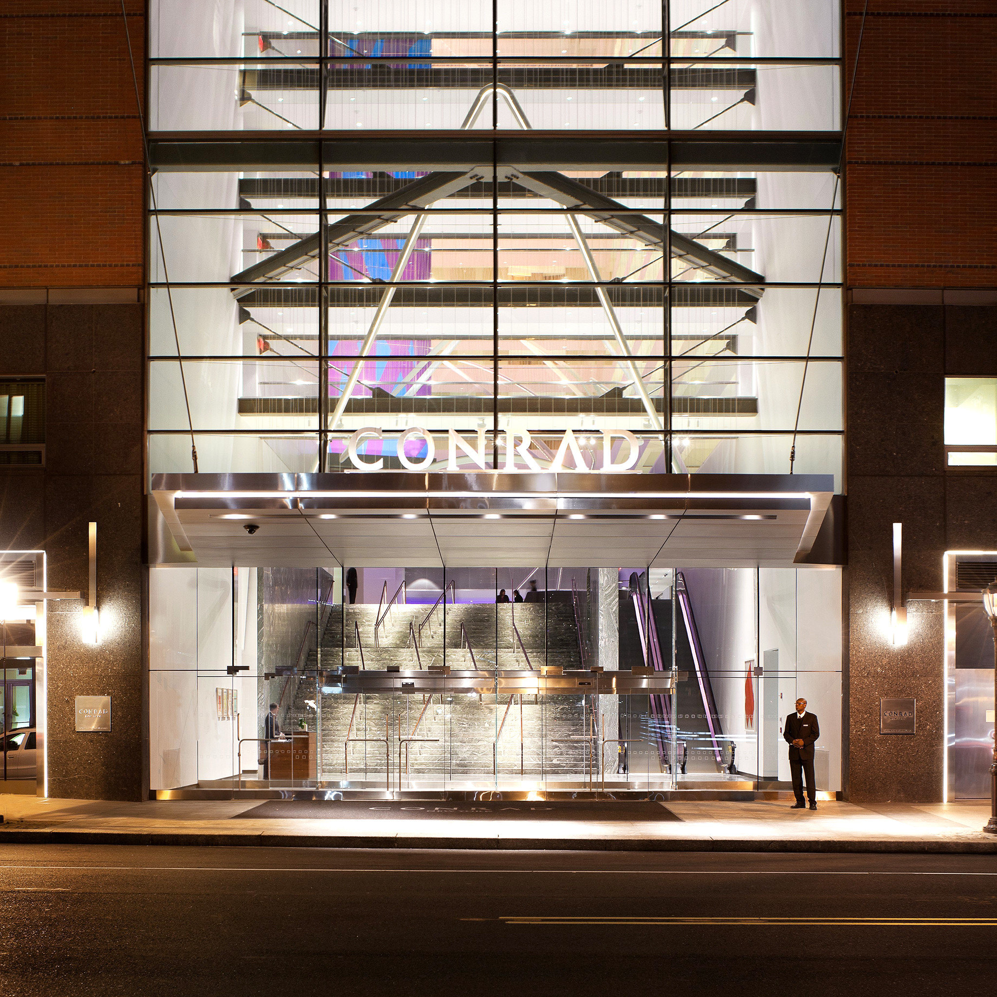 Architecture Buildings City Exterior Lobby lighting retail glass shelf