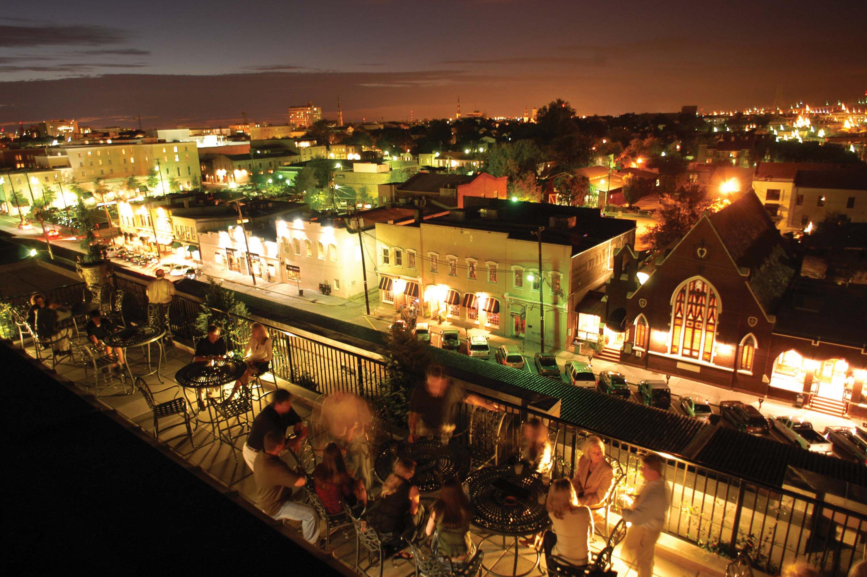Architecture Buildings City Exterior Nightlife night cityscape metropolis evening