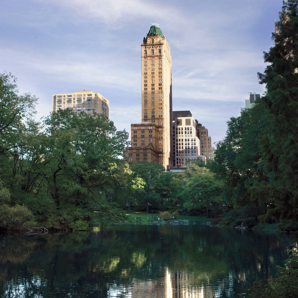 Architecture Buildings City Exterior Landmarks Parks tree water River landmark tower Lake park Garden waterway