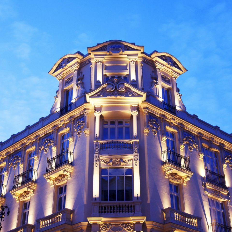 Architecture Buildings City Exterior building sky landmark night metropolis amusement park palace