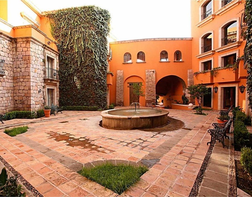 Architecture Buildings Elegant Exterior Historic Rustic building ground brick property Courtyard stone way sidewalk hacienda plaza brickwork home walkway mansion backyard outdoor structure Villa