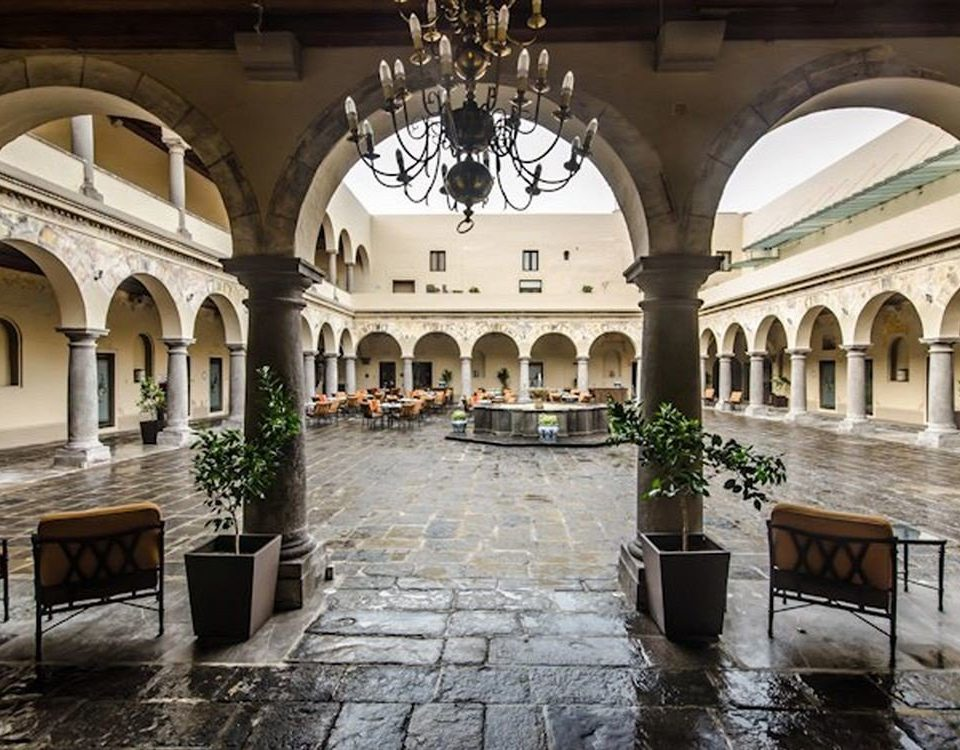 Architecture Buildings Elegant Exterior Grounds building palace Courtyard ancient history stone mansion arcade court monastery arch thermae synagogue place of worship colonnade walkway