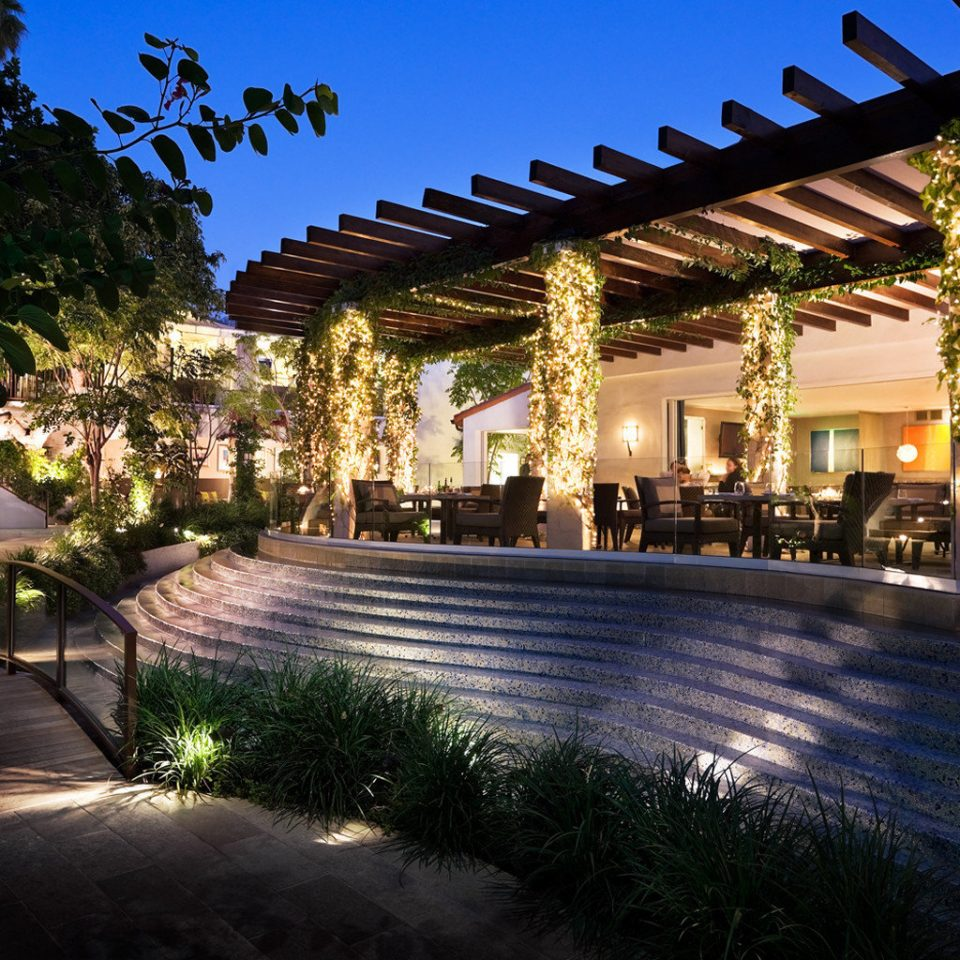 Architecture Buildings Exterior tree sky Resort street home landscape lighting plaza Courtyard palace hacienda