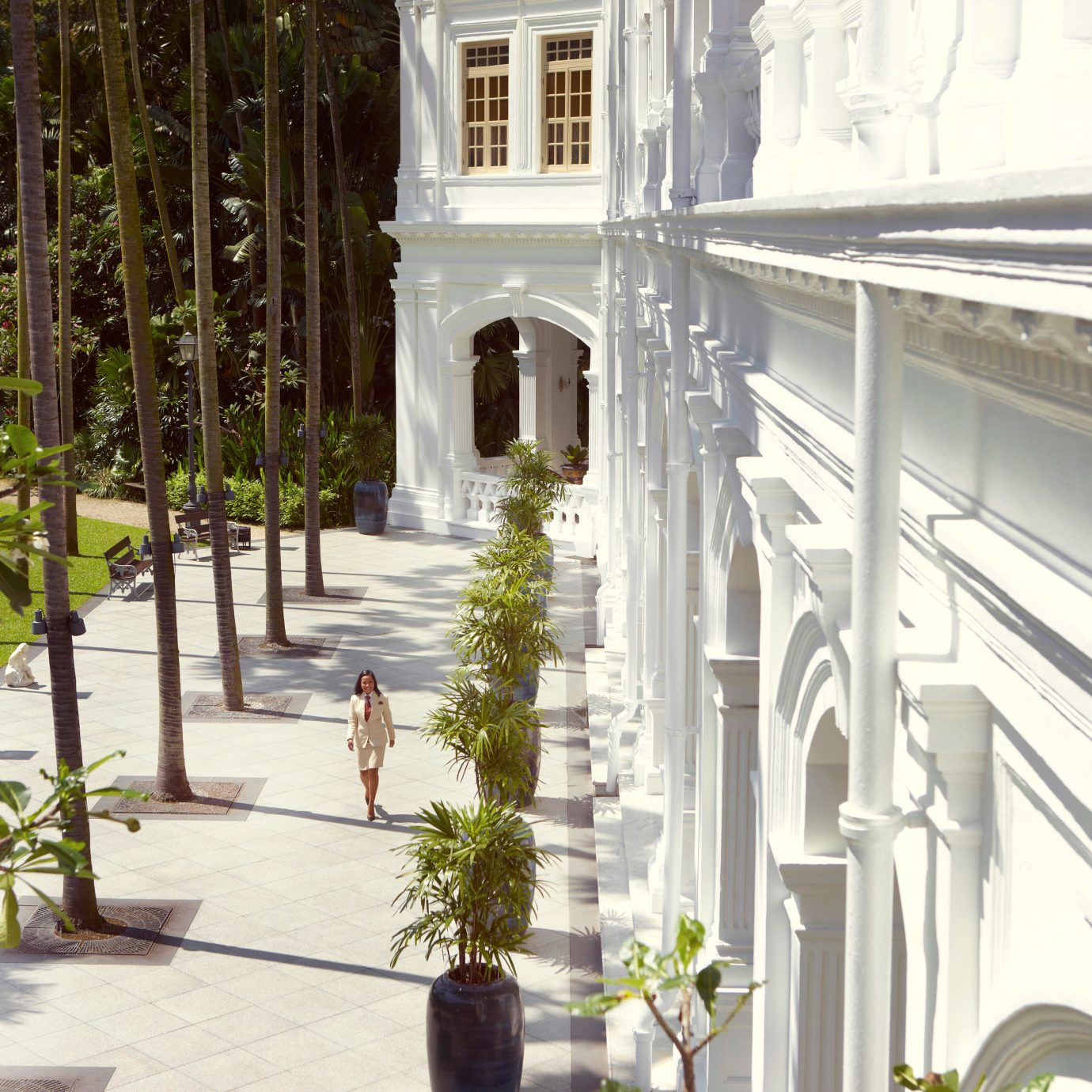 Architecture Buildings Exterior Historic Hotels property building house home Courtyard mansion condominium plant handrail porch