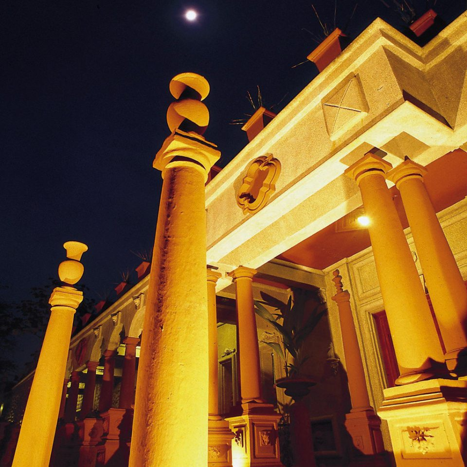 Architecture Buildings Cultural Elegant Exterior Historic Landmarks Luxury Nature Outdoors yellow night building light ancient history temple column tower