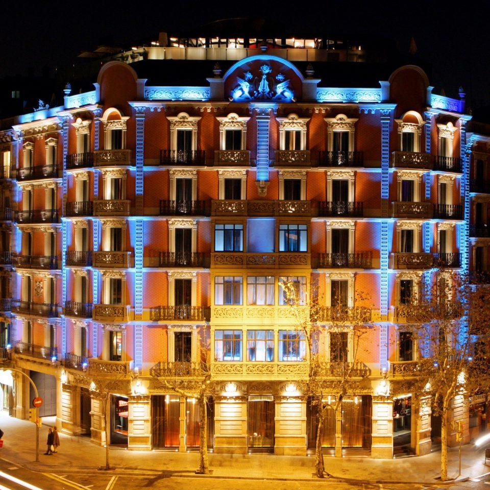 Architecture Buildings Exterior Landmarks Nightlife landmark night metropolis cityscape Downtown evening plaza