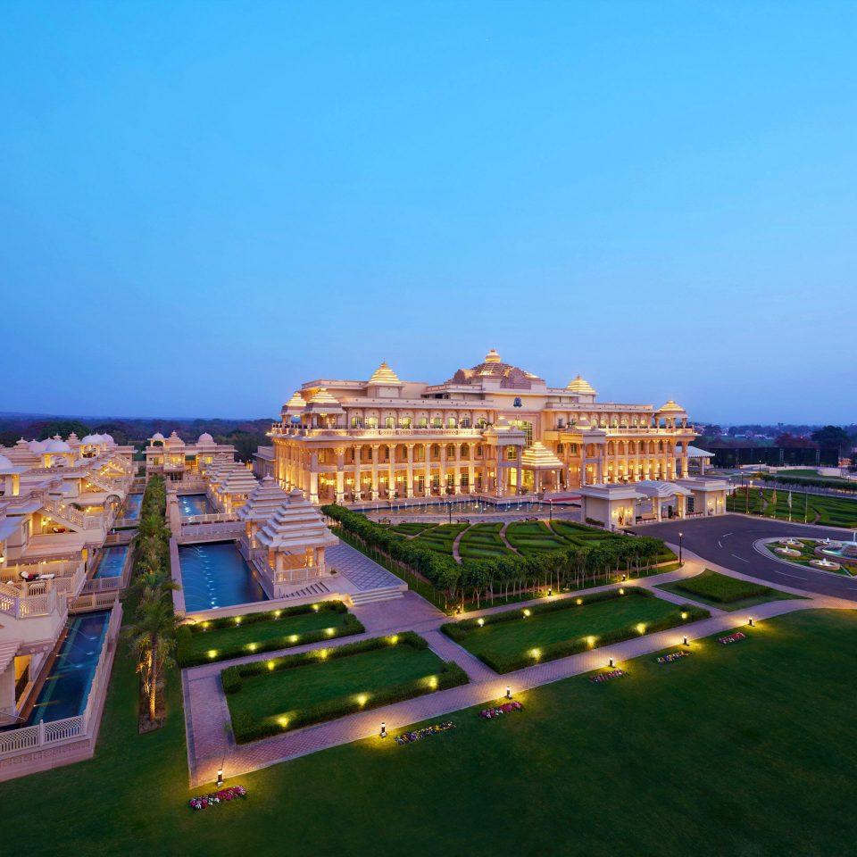 Architecture Buildings Elegant Exterior Garden Grounds Historic Luxury sky landmark cityscape palace stadium