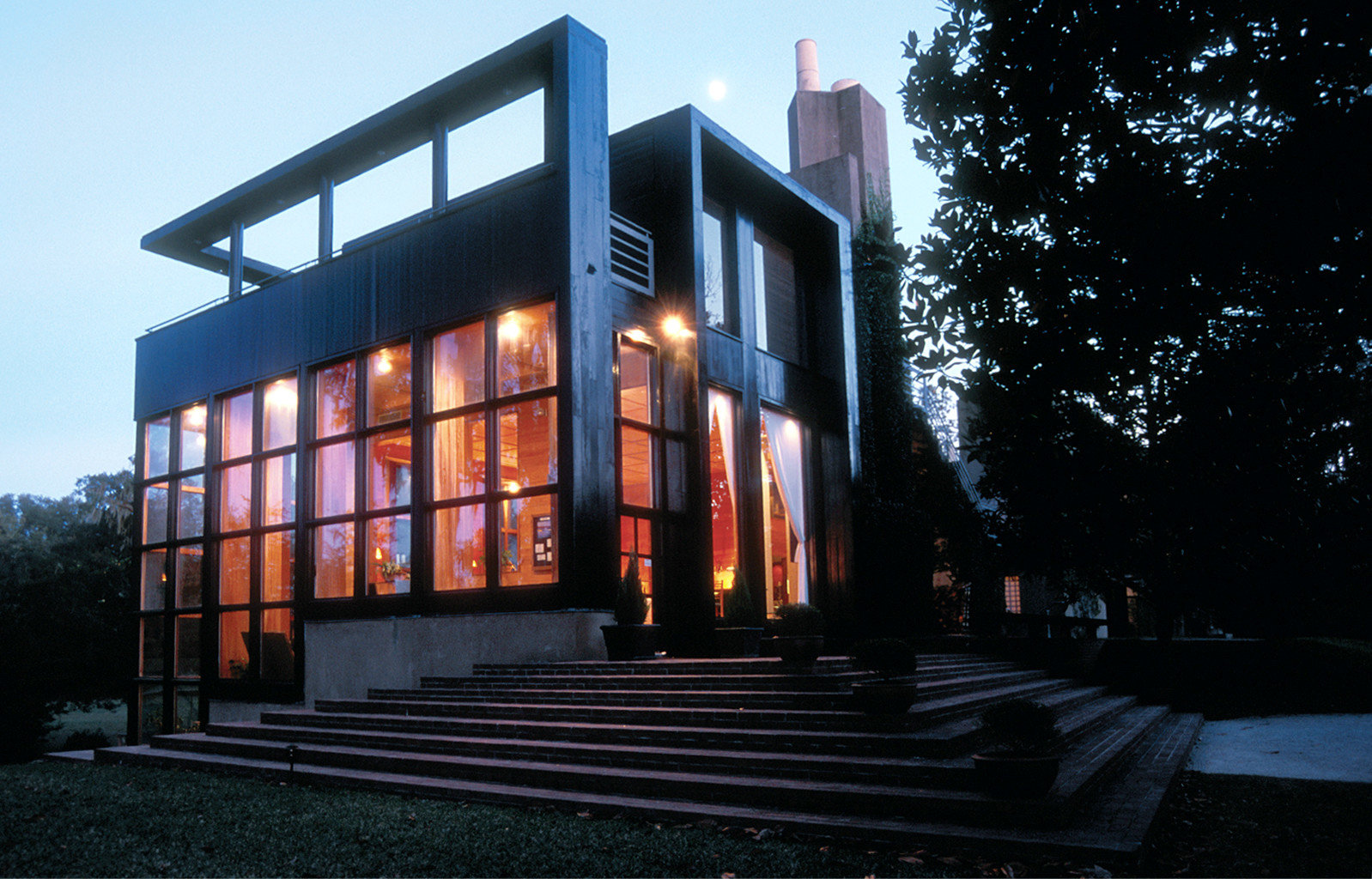 Architecture Buildings Exterior sky house building night residential area home