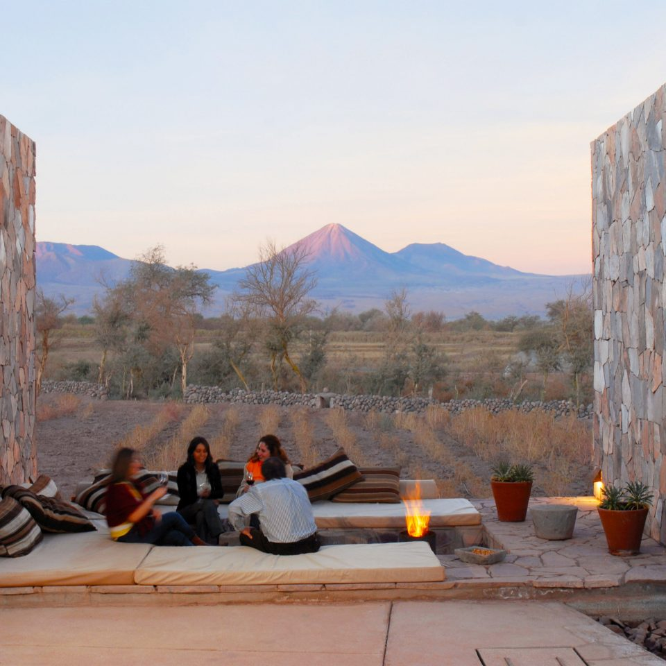 Architecture Buildings Exterior Firepit Mountains Outdoors sky rock ancient history