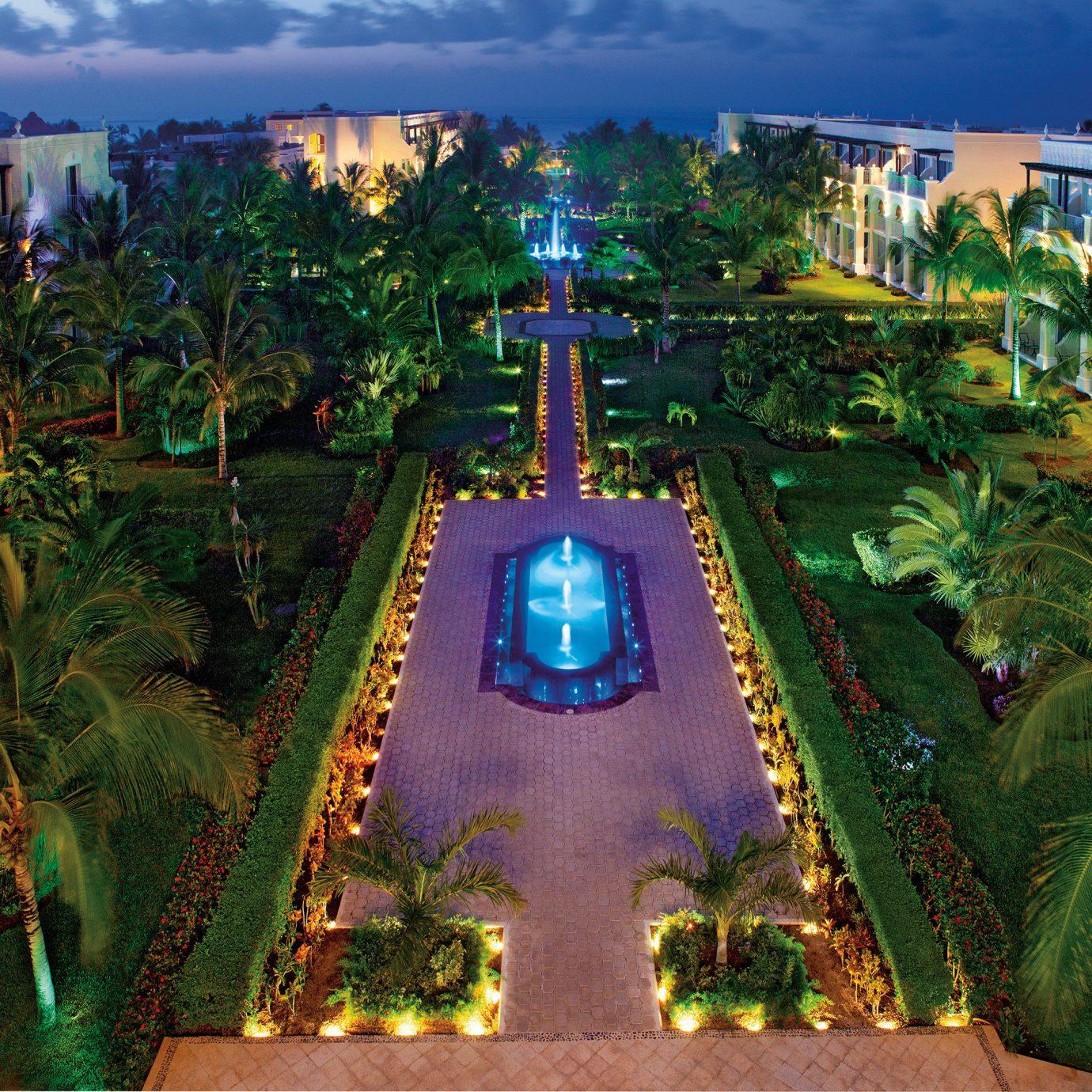 Architecture Buildings Exterior Pool Tropical Resort amusement park Jungle park screenshot Water park Garden flower colorful
