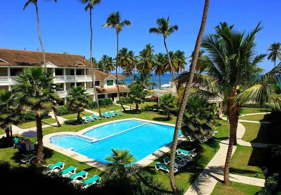 Architecture Buildings Exterior Luxury Modern Pool tree sky grass Resort palm swimming pool property leisure Golf Villa condominium arecales mansion caribbean lawn plant Garden
