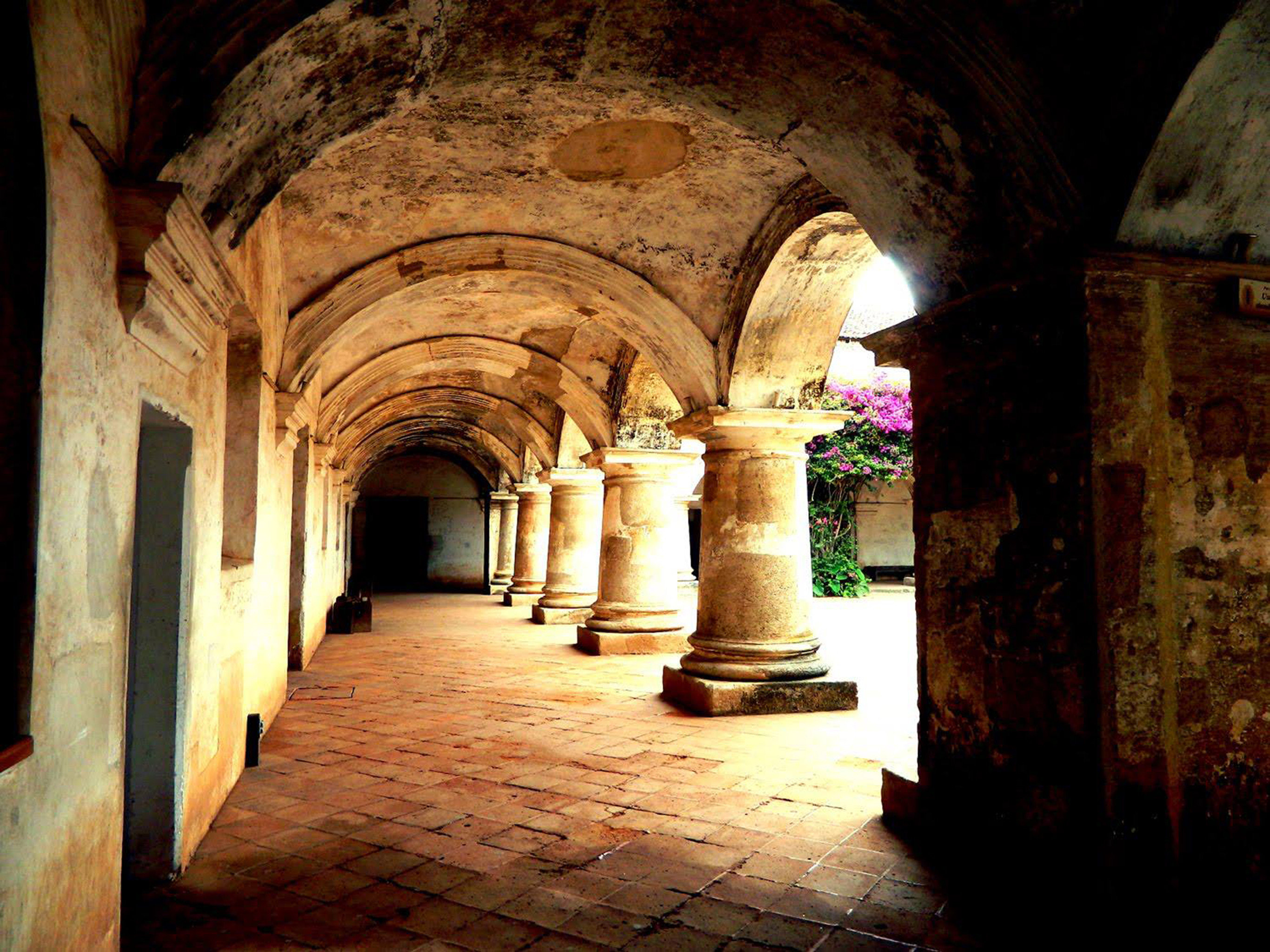 Architecture Buildings Exterior Historic Romantic Rustic building ancient history stone crypt monastery arch temple middle ages place of worship Ruins history abbey chapel walkway colonnade column