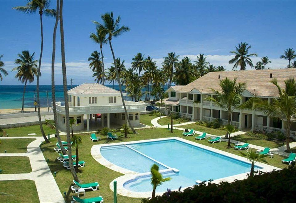 Architecture Buildings Exterior Lounge Luxury Modern Pool tree sky palm swimming pool property leisure Resort condominium resort town Villa caribbean marina