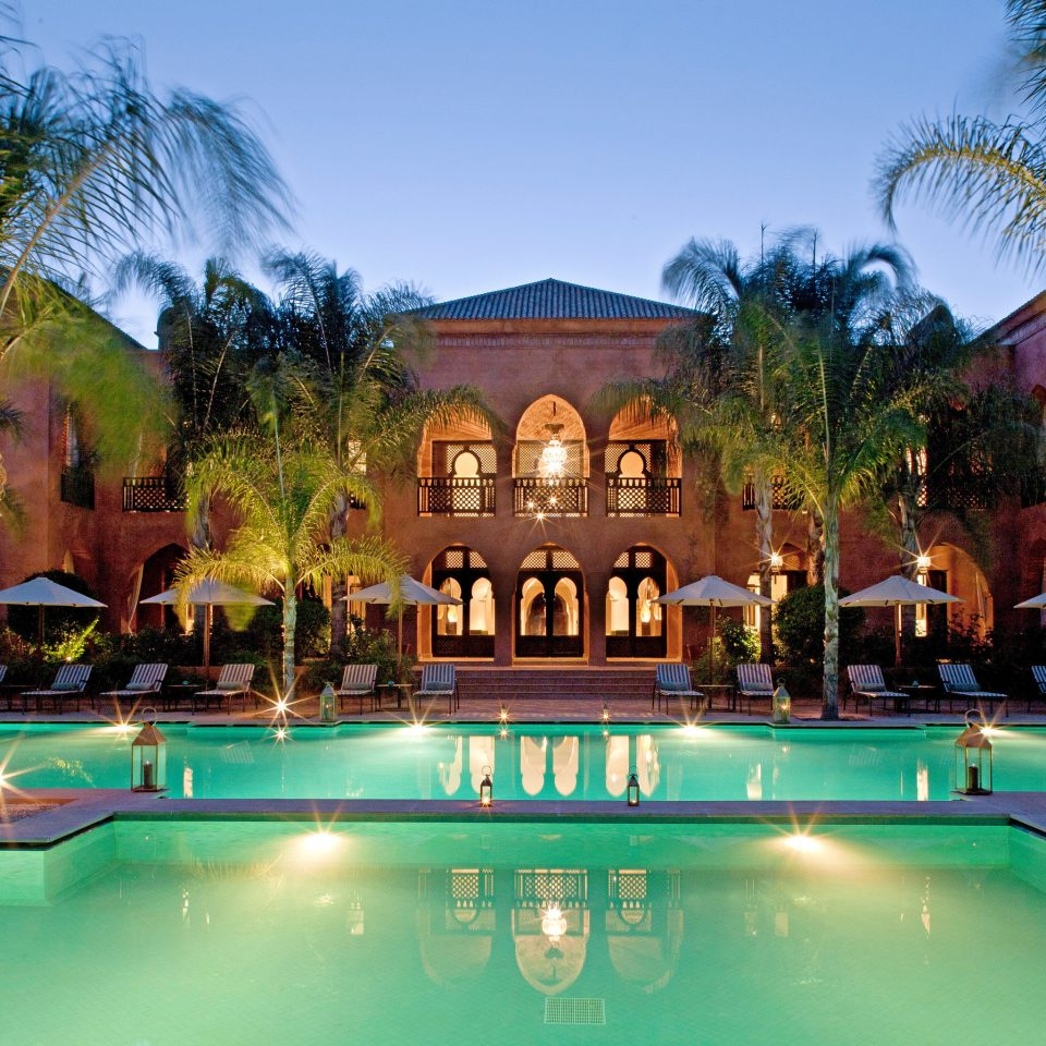 Architecture Buildings Exterior Luxury Pool tree sky leisure swimming pool Resort property building home Villa mansion palace hacienda